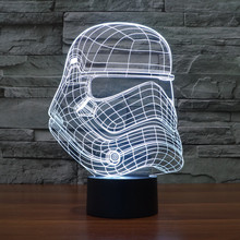 2016 new Star Wars Storm Knight 3D light colorful gradient LED personalized lamp gift lamp