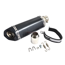 Exhaust Muffler with Removable DB Killer Fits for  Street Sport Motorcycles and Scooters With 38-51mm Diameter Exhaust Pipes