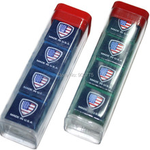 Silver Cup Billiard Chalk - Box of 4 /Green&Blue Quality USA pro cup /pool Cue accessories