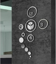 Free delivery 3D mirror wall stickers DIY fashion Wall Clock special gift a beautiful home furnishing decoration(China)