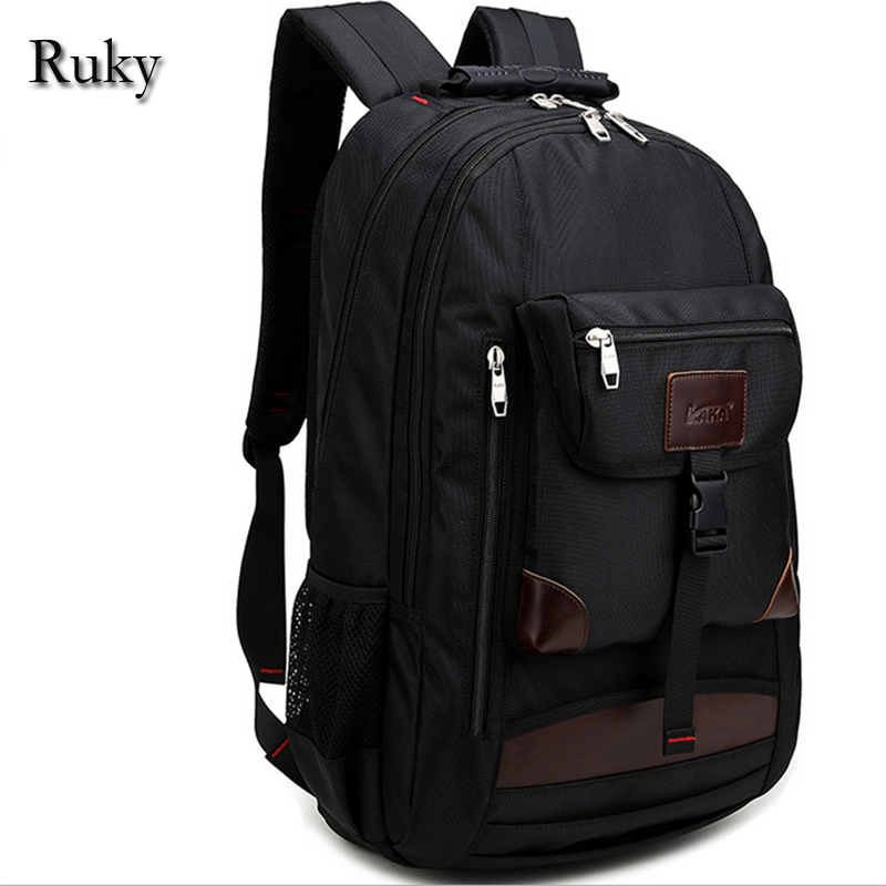 2017 Hot Sale Black Leisure Fashion High Quality Mens travel waterproof Nylon Backpacks bag knapsack Large capacity Laptop bag<br><br>Aliexpress