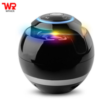 WPAIER Round ball Wireless Bluetooth speaker LED mini portable audio outdoors bluetooth speaker support TF card/AUX(China)
