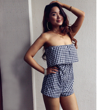 So Charm Summer Style Tube Top Jumpsuit Lady Romper Bodysuit Women Strapless Overalls Jumpsuits Romper Combine Sexy Top 7501(China)