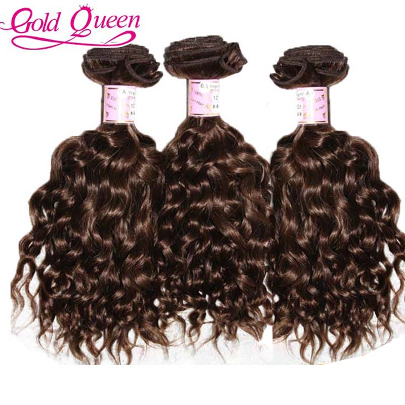 Gold Queen Hair 3pc/lot water wave hair extension 100 unprocessed brazilian hair weave bundles 1#/1b#/2#/4# free shipping<br><br>Aliexpress