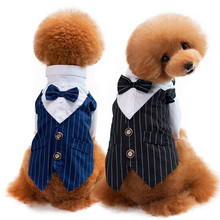 Western Style Mens Suit for Pet Dog Clothes Festival T Shirt Wedding Dog Suit & Bow Tie Puppy Dog Apparel Jumsuit S-XXL(China)