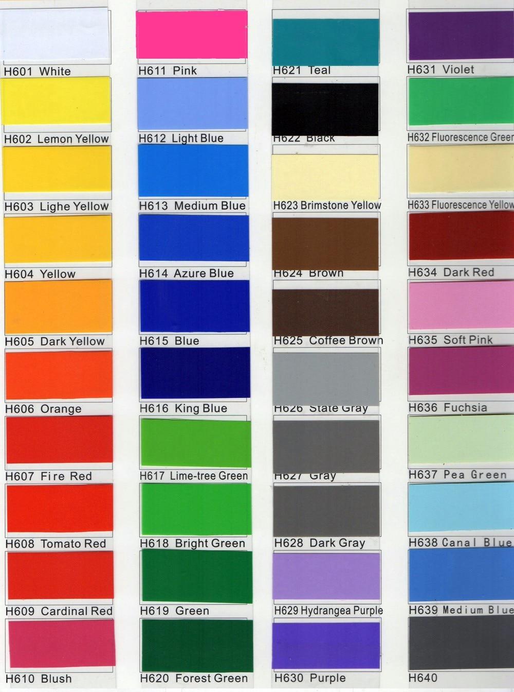 final color chart