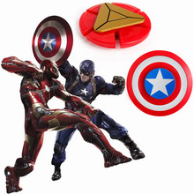 Buy HOT 2 styles Plastic Iron Man Fidget Spinner Captain America Shield Finger Spinner EDC Hand Spinner Anxiety Stress Relief Toys for $1.97 in AliExpress store
