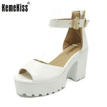 KemeKiss New Arrival Shoes Wrap Open Toe Women Ankle Strap Sandals Thick Heel Platform Women Sandals Size 34-43 PA00776