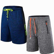 Men Sports Running Football Shorts Outdoor Fitness Exercise Gym Soccer Basketball Jogging Jogger Boxer Shorts with Zip pocket(China)