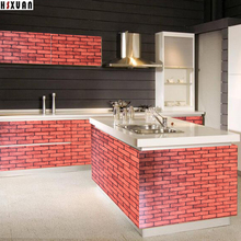 brick wall picture paper decal self adhesive Removable Kitchen Waterproof Sticker Home Decor Kitchen Tiles Wall Stickers 2601(China)