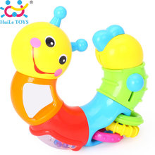 HUILE TOYS 786B Kids Educational Toys Baby Rattle Lovely Worm Toys Insert Puzzle Turning Toys for Baby Fingers Flexible Training(China)