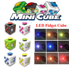 2017 Newest Version LED Fidget Cube EDC Finger Toys Hand Cube With Led Light Stress Reliever Gifts Magic Cube For Kids Adults
