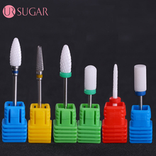 "UR SUGAR Ceramic Nail Drill Bit Pedicure Machine Remove Calluses Bit Tools Electric Drill 3/32"" Shank Manicure Nail Art Tools"
