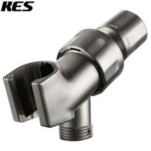 KES Adjustable Hand Shower Arm Mount with 1/2 IPS Swivel Ball Connector Universal Showering Component, Chrome/Brushed Nickel