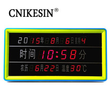 CNIKESIN Classic DIY kit Calendar LED Digital Electronic Clock Calendar Parts Special Offer With Temperature Display(China)