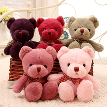 30cm Colorful Animals Bow teddy bear dolls plush toys birthday presents kids soft toys pillow anime Birthday Gifts Party Decor(China)
