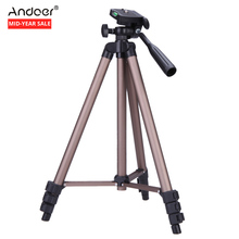 WT3130 Camera Tripod Aluminum alloy Photo Tripod with Rocker Arm for Canon Nikon Sony DSLR Camera Camcorder Load up to 2.5kg