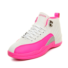 Women Basketball Shoes Women Outdoor Sports Non-Slip Shoe Sneakers Training Mid-High Top Athletic Air 12 Zapatillas Baloncesto