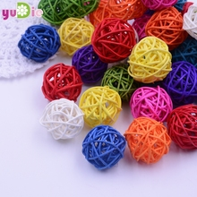 Wedding Rattan Ball Decoration 20pcs/Lot 2.5cm Sepak Takraw Christmas Balls Dried Artificial Flowers Decoration