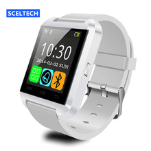 SCELTECH U8 Smart Watch Clock Sync Notifier Support Bluetooth Connectivity For Android Phone Smartwatch PK GT08 DZ09 GV18(China)