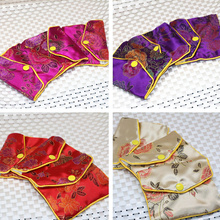 Chinese antique flower cloth package 75*97mm bag jewelry gifts box 10pcs wholesale price rose red blue purple yellow B2843