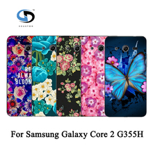 Unique Rose Peony Beautiful Flower Floral Drawing Hard Plastic Case For Samsung Galaxy Core 2 G355H/G3559 Skin Back Cover