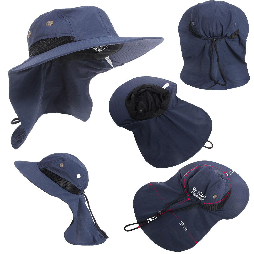 Sun Hat Bucket Cargo Safari Bush Boonie Summer Fishing Hat Mens Woman/'s UPF 50