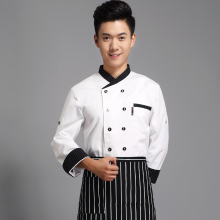 Male Chef Hotel Uniform Clothing Long Sleeved  Hotel Restaurant Kitchen Chef Wear Uniforms