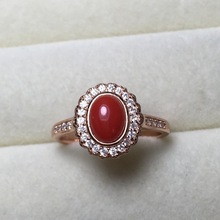 Fine Antique 5*7mm Oval Cut Coral Red Gemstone 925 Sterling Silver Jewelry Semi Mount Ring Settings Haleigha Bague Femme Anillos