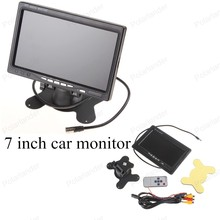 car monitor 7 inch Color TFT LCD with 2 Channels Video screen for rear view camera backup parking digital small display