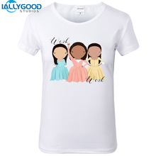 New Summer Funny And Peggy Hamilton Musical Schuyler Sisters Women T-shirts short sleeve Soft Cotton Women White Tops S616(China)