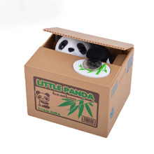 Actionclub Adorable Mischief Saving Box Cartoon Piggy Bank For Children Gift Panda Steal Coin Bank Money Storage Box(China)
