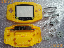 New arrival carton screen yellow shell for game boy advance GBA console case free shipping