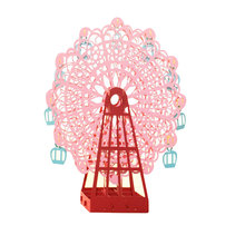 1pc Pink Papercraft Pop-Up 3D Ferris Wheel Valentine Cards May Love Goes Round And Round for Wedding Party Decor Gift 15*15 CM