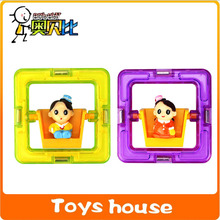 Square with dolls magnetic building blocks toy toddler educational game toddler building toys construction toys
