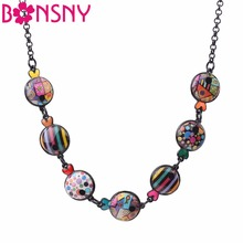 Bonsny Statement Maxi Metal Enamel Fish Choker Necklace Pendant Chain Collar 2017 New Ocean Animal Jewelry For Women Girl