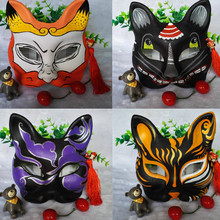 Cos hand painted and wind Japanese classical crafts cat face fox mask animation and cartoon exhibition