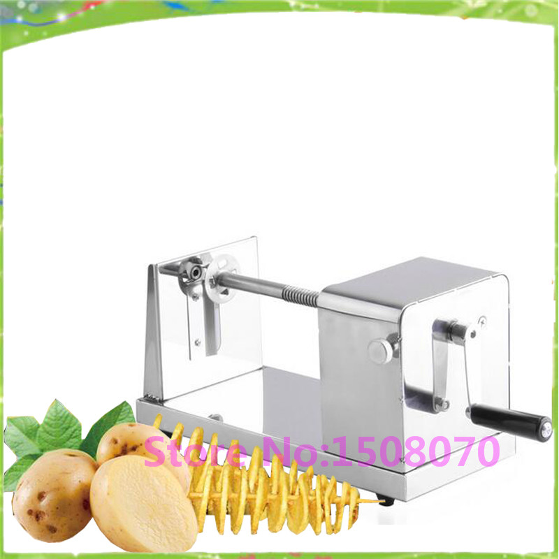 discount Hot selling manual spiral potato chips twister slicer potato slicer chips cutter price<br>