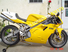 Hot Sales,aftermarket Motorbike bodywork for ducati fairing 748 996 1996-2002 Yellow White Fairings (Injection molding)