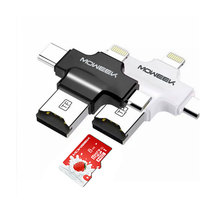 4 in 1 Moweek 32GB 64GB Pendrive OTG USB Flash Drive for iPhone 5/5s/5c/6/6 Plus/7/ipad OTG Card reader Pen Drive