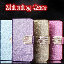 Buy Luxury PU Leather Wallet Case Nokia Microsoft Lumia 550 Flip Cover Shining Crystal Bling Case Card Slot & Bling Diamond for $3.79 in AliExpress store