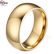 NFS Classic Gold Filled Tungsten Carbide Rings For Man Cool Tungsten Steel Wedding Band Alliance Bridal Jewellery(China)