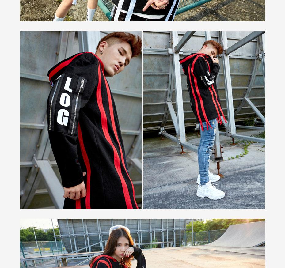 TRIASIADEE Mens Hoodies Hip Hop Sweatshirts Sudaderas Hombre 2017 Korean Womens Hoodies High street Skateboard Sweatshirt