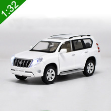 1:32 Toyota Prado original car model with pull back sound light simulation LC100 LC200 SUV jeep Off-road For Baby Toy/Gifts