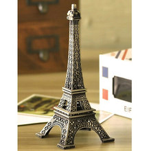 Vintage Alloy Model Decor Home Office Decorations 22CM Bronze Tone Paris Eiffel Tower Figurine Statue