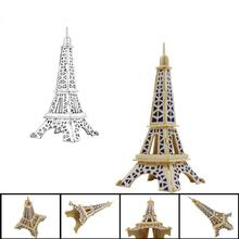 High quality Eiffel Tower 3D jigsaw puzzle toys for children wooden puzzle Kids adult intelligence toy Brinquedos Educativos #JD(China)