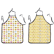 Funny Aprons Children Cartoon Emoji Kitchen Apron Dinner Party Cooking Apron Cozinha Tablier Cuisine Pinafore Adult