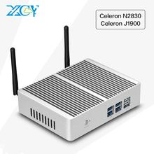 XCY Celeron J1900 N2830 Mini PC Dual HDMI Barebone USB3.0 WIFI Mini Computer Desktop HTPC TV BOX Fanless PC
