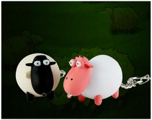 Goat Sheep Noise-making Keychain with LED Light Mini Flashlight Student Bag Ornament Accessories Doll Small Gift Cute Kids Toys