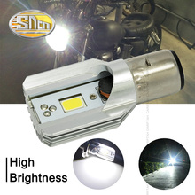 SNCN BA20D H6 LED Motorcycle Headlight Blub DC 6V~80V 6W 800LM 6500K moto light COB Scooter Accessoire Motorbike head lamp